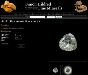 Simon Hildred Fine Minerals screenshot
